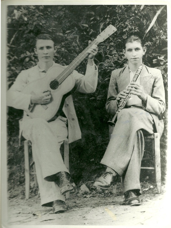 1939 - Egídio Demonti (violão) e José Bassi (Clarinete).