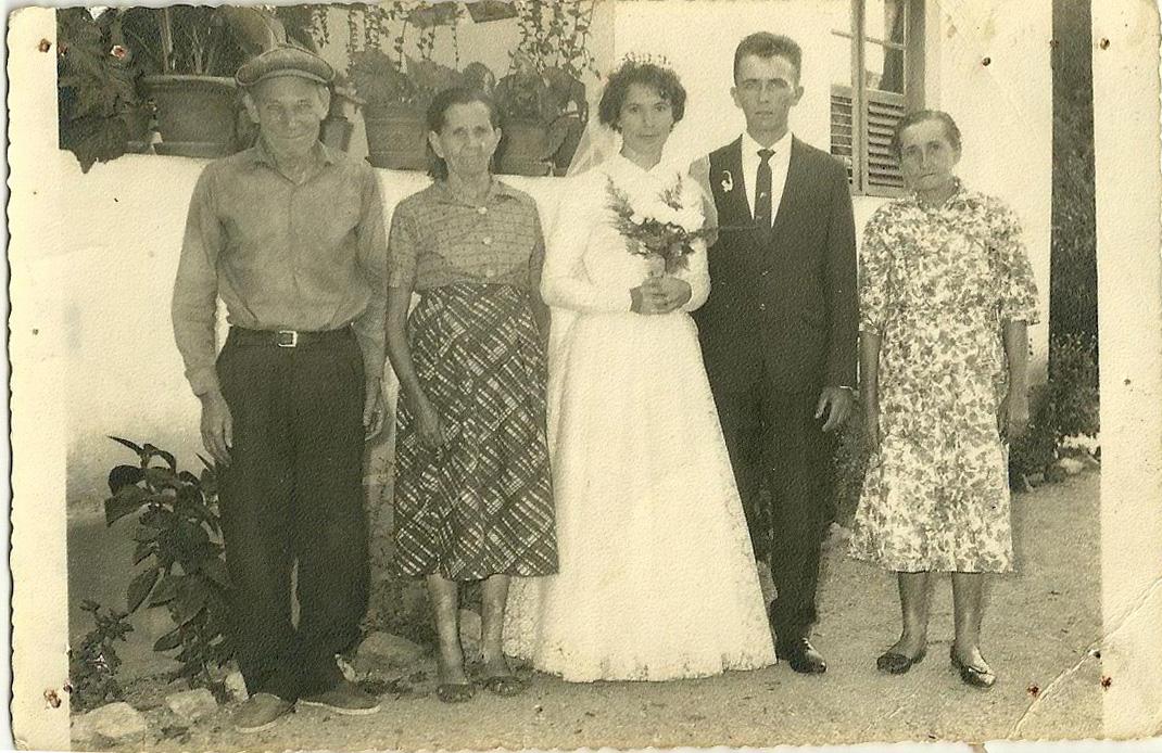 Casamento Luiz Hugo Piva e Vitalina Vicentini, no bairro Espraiado, Rua Brusque.  Ano 04 de maio de 1963