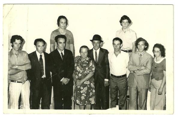 Adão Marchi, Humberto, Luiz, Atrás Fátima, Ana Zandonai Marchi, Antonio Marchi, Augusto, atrás Roque, Francisco e Albertina