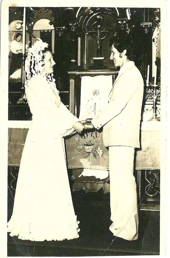 Casamento 4-12-76 - Adão Marchi e Clarisse Bonecher