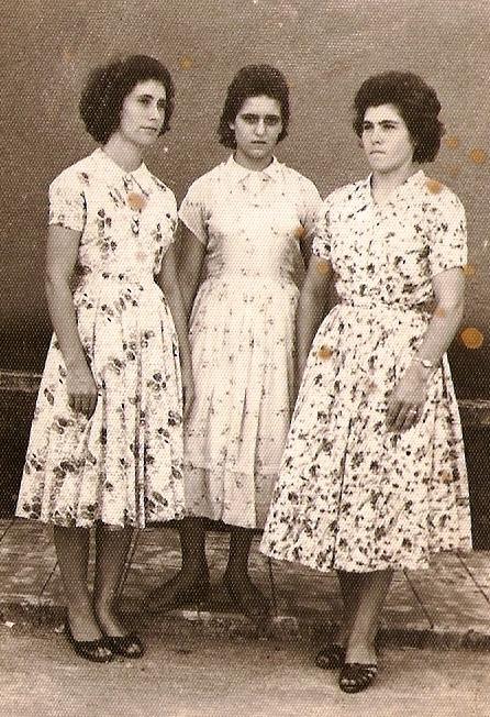 Nova Trento - As primas Neida Darós, Hilda Darós e Marta Darós – 1958