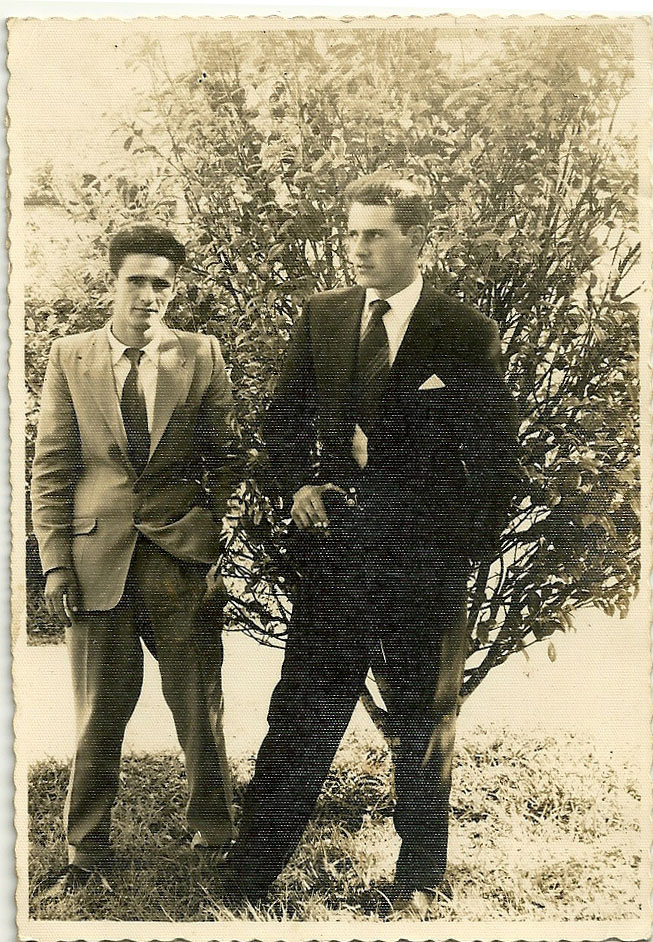 Ercilio Darós Celinho e Dionisio Cadori - Piazza Del Comune - 1958