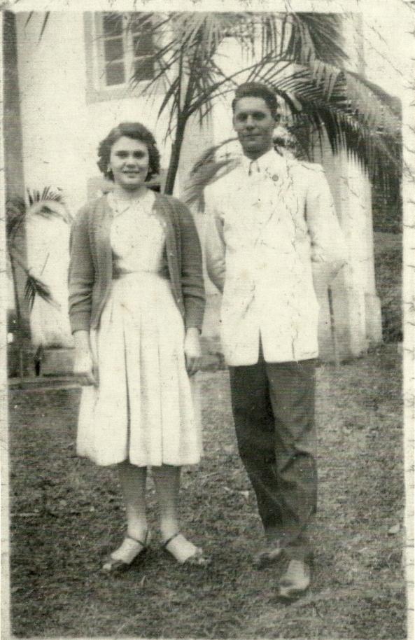 Festa São Luiz - 1955 - Junho - Gentil Cecato e Nida Darós