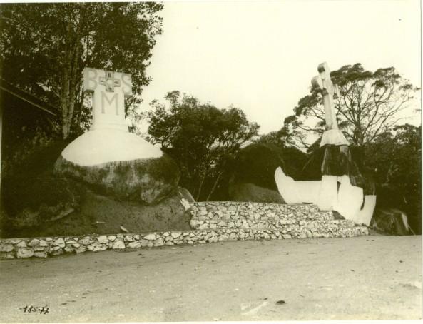 Santuário de Nossa senhora do Bom Socorro (Morro da Cruz) no ano de 1977 -