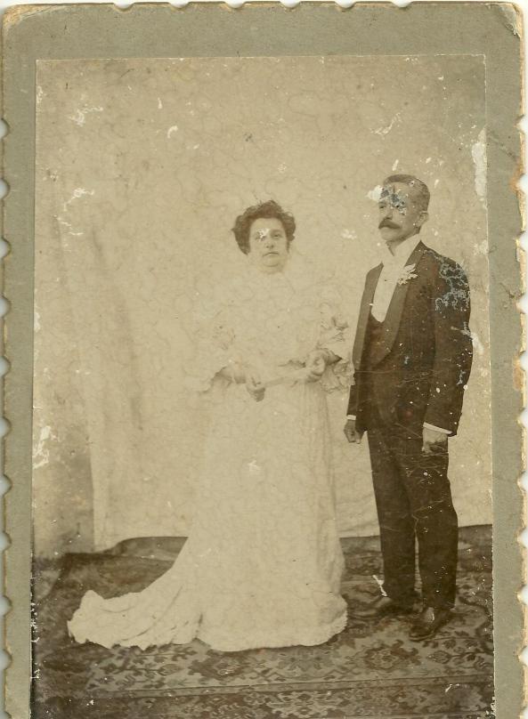 Bodas de Prata - 1908 - Hipólito Boiteux e sua esposa Alzira