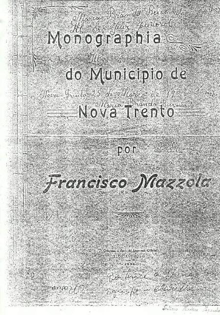 monografia de Nova Trento - Francisco Mazzola