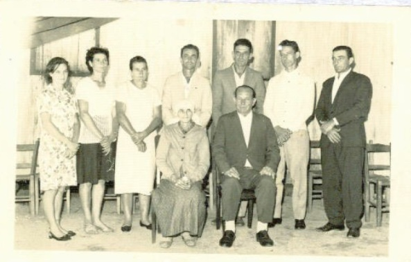 Anita, Selma, Maria, Antônio, José, Fernando, Aldemar, Maria e Augusto Cipriani