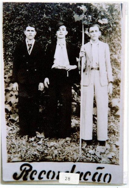 Mário Piazza - Elízio Tonini - Antônio Cipriani - Década de 1940