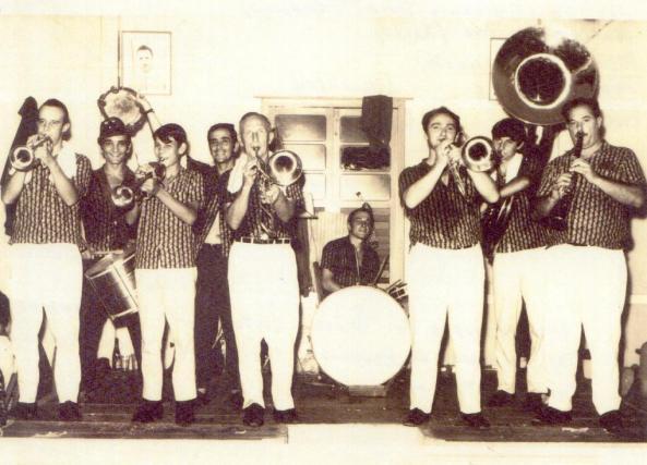 década de 1970 - músicos da banda padre Sabattini