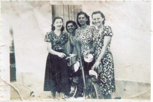 Inês Feller, Olga da Silva, Célia da Silva e Rosalina Andrioli.
