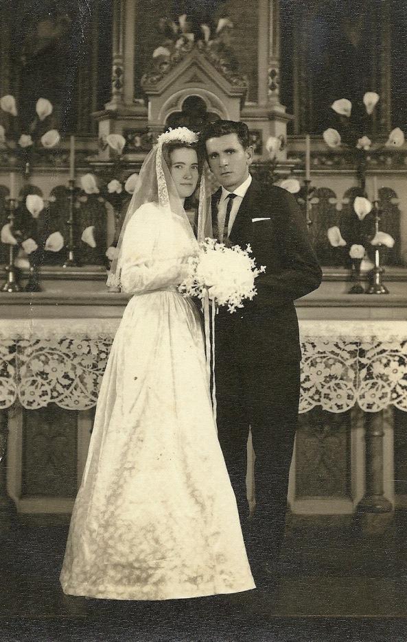 casamento de Júlia e Gelásio Daros - década de 60