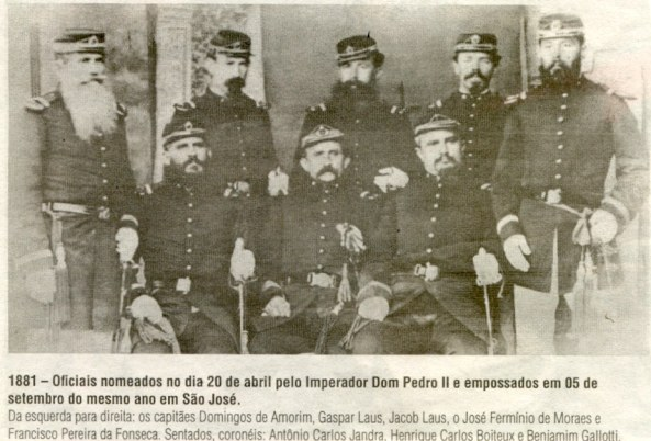 foto coronéis Nova Trento